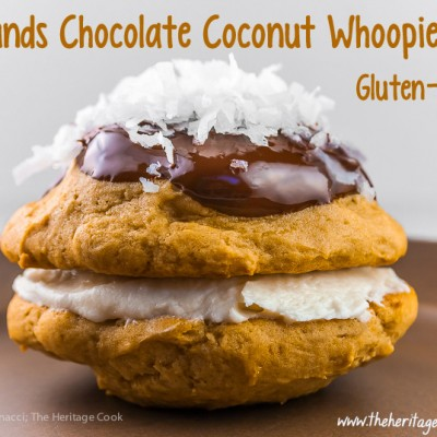 Mounds Chocolate and Coconut Whoopie Pies (Gluten-Free)