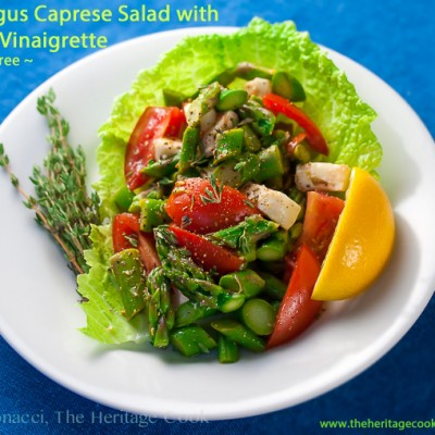 Asparagus Caprese Salad with Lemon Vinaigrette (Gluten-Free)
