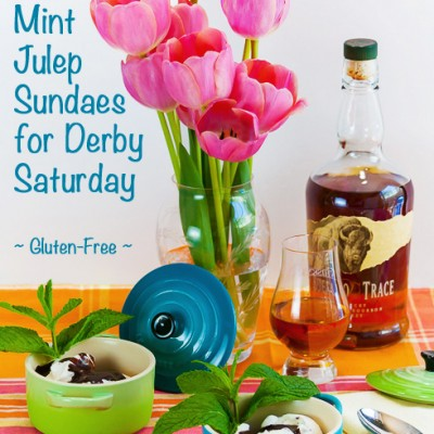 Mint Julep Sundaes for the Kentucky Derby Weekend (Gluten-Free)