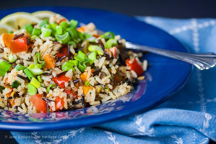 White & Wild Rice Pilaf; 2015 Jane Bonacci, The Heritage Cook
