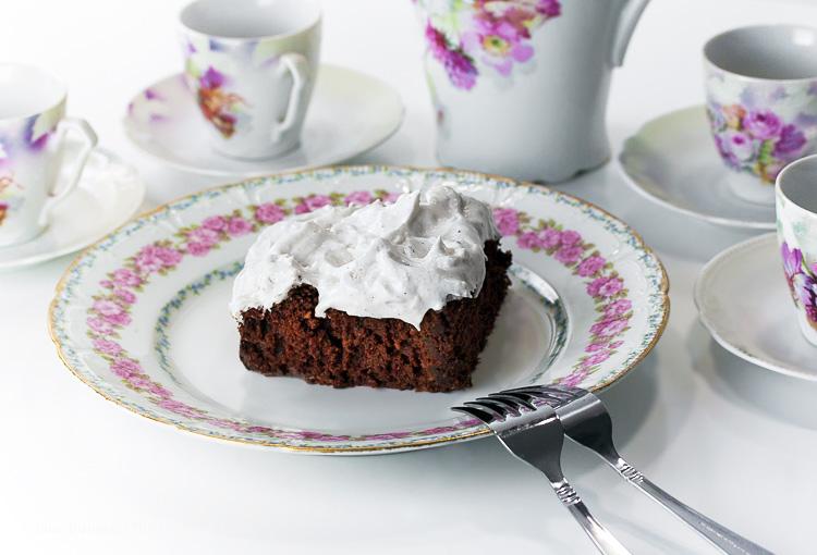 Mississippi Mud Cake; 2015 Jane Bonacci, The Heritage Cook