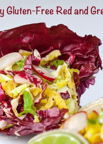 Crunchy Gluten-Free Red & Green Slaw; 2015 Jane Bonacci, The Heritage Cook