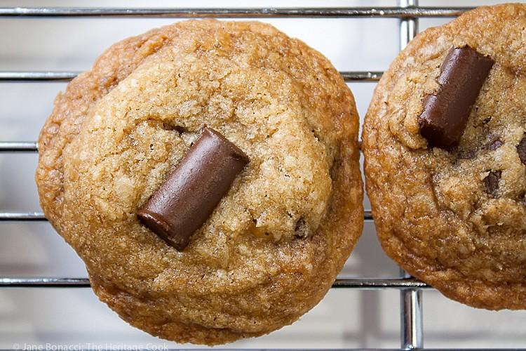 Toffee Caramel Chocolate Chunk Cookies; 2015 Jane Bonacci, The Heritage Cook