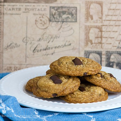 Toffee Caramel Chocolate Chunk Cookies; 2015 Jane Bonacci, The Heritage Cook
