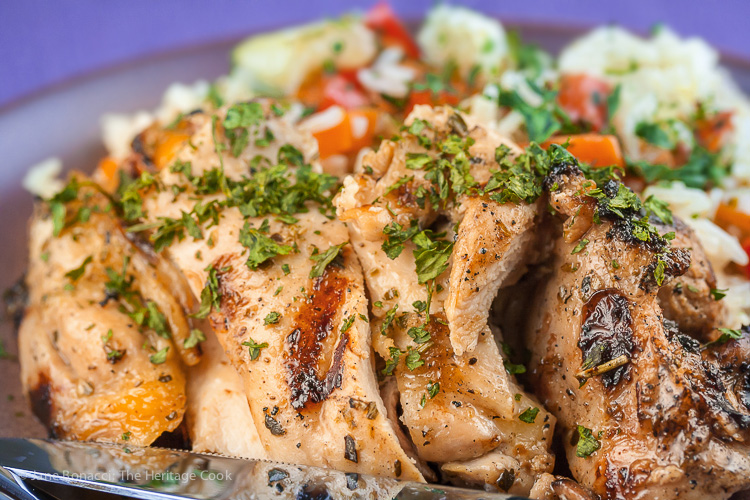 World's Easiest BBQ Chicken; 2015 Jane Bonacci, The Heritage Cook