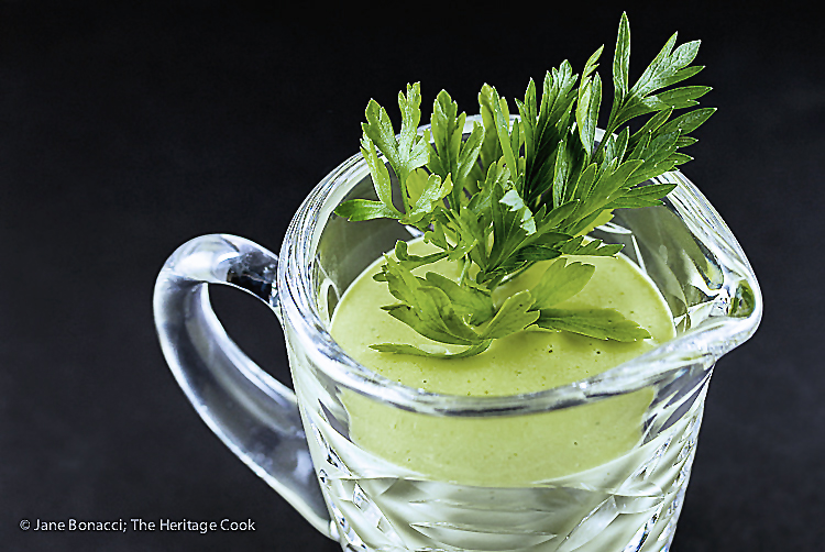 Celebrating herbs with Homemade Cilantro Mayonnaise; 2015 Jane Bonacci, The Heritage Cook