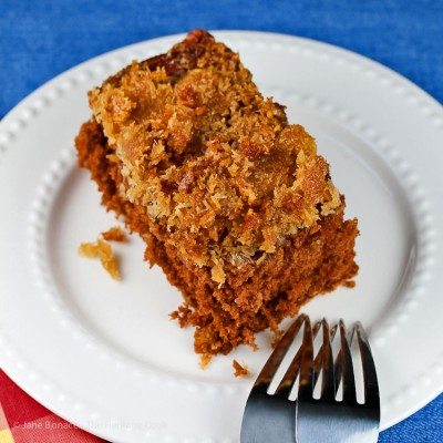 Upside Down German Chocolate Cake (Gluten-Free) SRC