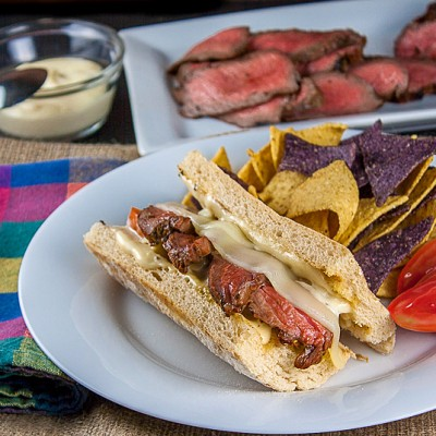 Cheesy Grilled Steak Sandwiches (Gluten-Free option)