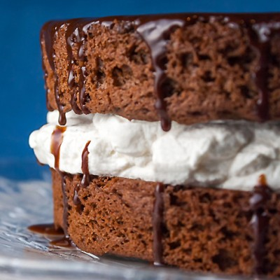 Chocolate and Whipped Cream Layer Cake (Gluten-Free)