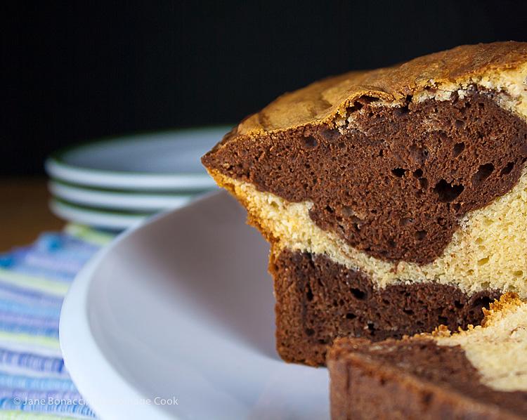 Pistachio Chocolate Marble Bundt Cake