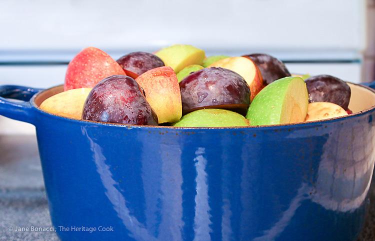 Homemade Pink Applesauce; 2015 Jane Bonacci, The Heritage Cook
