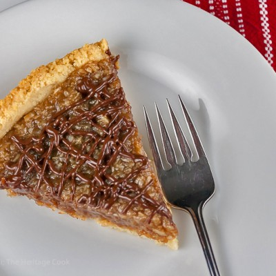 Coconut Caramel Tart that tastes like a Samoa Cookie; © 2015 Jane Bonacci, The Heritage Cook