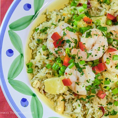 Thai Pineapple Shrimp with Spicy Herbed Rice (Gluten-Free & Dairy-Free)