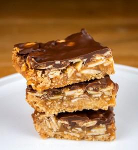 Nutty Chocolate-Caramel Bar Cookies; © 2015 Jane Bonacci, The Heritage Cook
