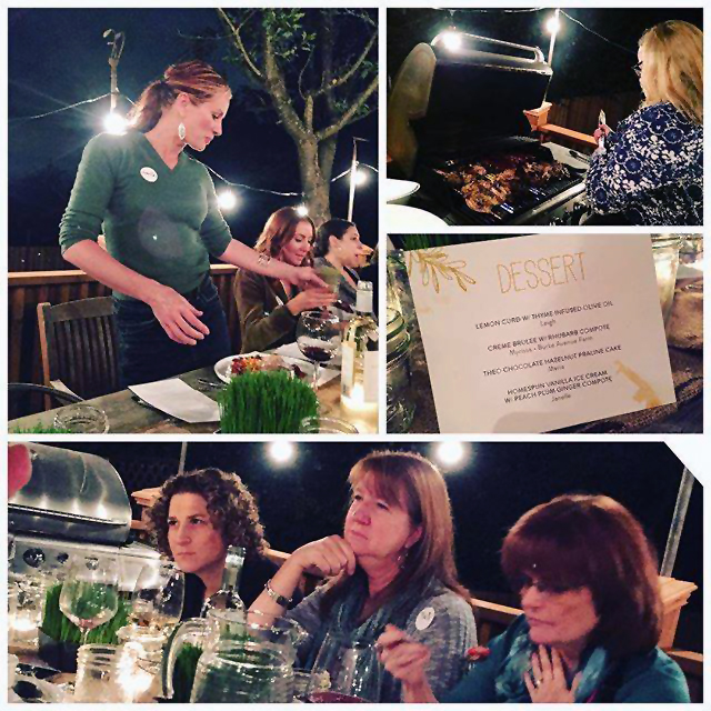 Friends gathered for Urban Farm dinner; Urban Farm Dinner with Barn2Door at IFBC 2015; Janelle Maiocco, Barn2Door