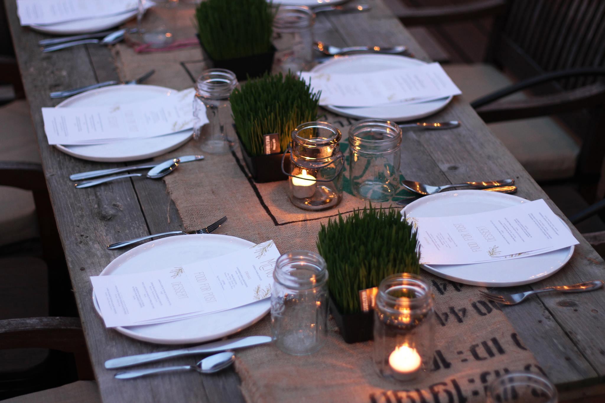 Urban Farm Dinner with Barn2Door at IFBC 2015; Janelle Maiocco, Barn2Door