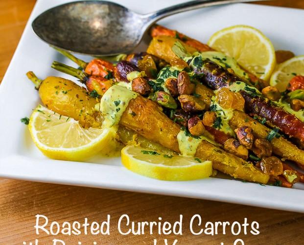 Curried Carrots with Raisins and Yogurt Sauce (Gluten-Free)