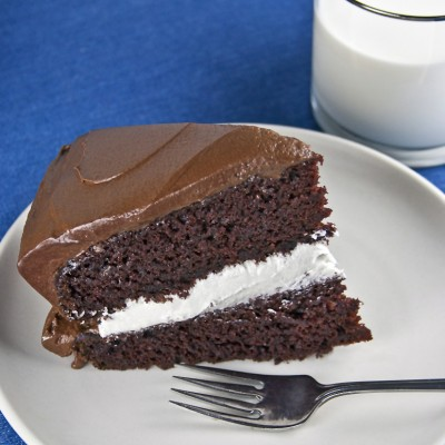 A Bite from Childhood – Chocolate Layer Cake with Vanilla Filling (Gluten-Free option)