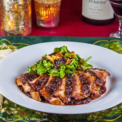 Cherry Glazed Duck Breasts with Arugula Salad (Gluten-Free)