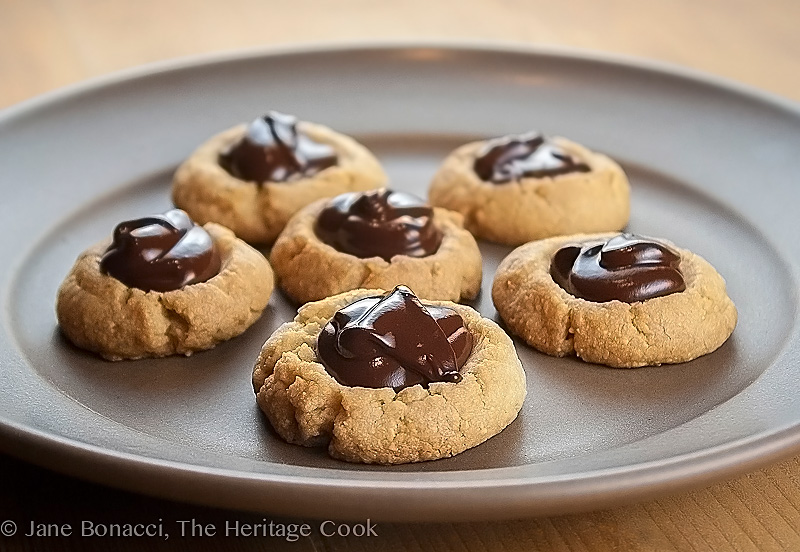 Backlit plate of cookies; Gluten Free Chocolate Thimble Drops; 2016 Jane Bonacci, The Heritage Cook
