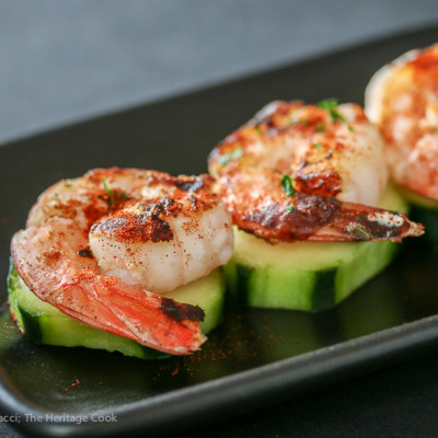 Grilled Shrimp with Chipotle Ranch Dipping Sauce (Gluten-Free)
