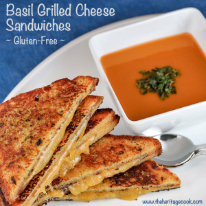 The Ultimate Comfort Food - Crispy Basil Grilled Cheese Sandwiches; © 2016 Jane Bonacci, The Heritage Cook