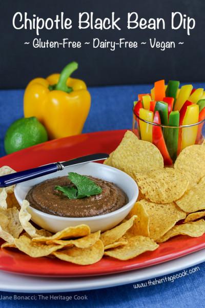 Chipotle Black Bean Dip for Super Bowl Sunday, Jane Bonacci, The Heritage Cook