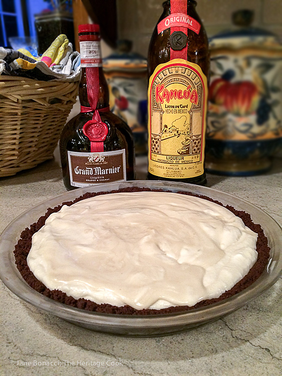 Choose Your Booze Cream Pie - make it your own; © 2016 Jane Bonacci, The Heritage Cook #ChocolateMonday
