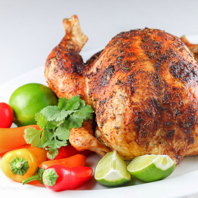 Peruvian Pisco (Brandy) Roast Chicken (Gluten-Free)