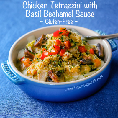 Basil Chicken Tetrazzini Casserole (Gluten-Free)