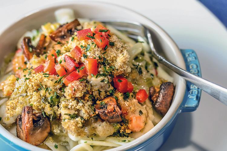 Basil Chicken Tetrazzini Casserole Gluten Free; © 2016 Jane Bonacci, The Heritage Cook
