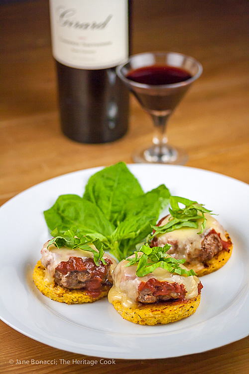 Gluten-Free Italian Sliders with Polenta and Marinara; © 2016 Jane Bonacci, The Heritage Cook