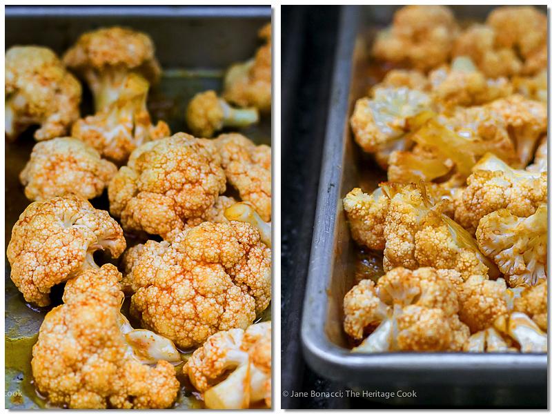 Sweet and Spicy Buffalo Cauliflower Florets; © 2016 Jane Bonacci, The Heritage Cook