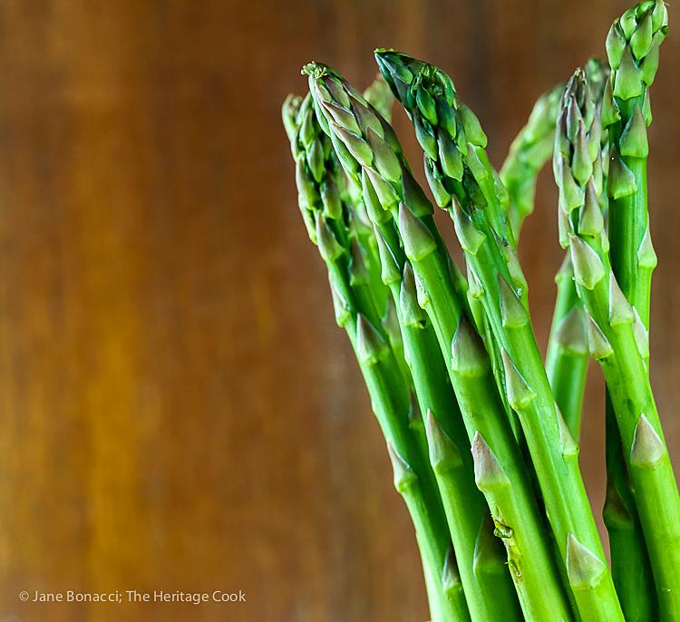 Fresh asparagus spears; Dairy-Free Cream of Asparagus Soup (Gluten-Free); © 2016 Jane Bonacci, The Heritage cook