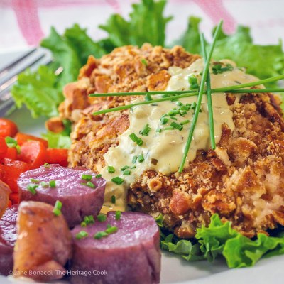 Gratify Gluten-Free Pretzel Coated Chicken with Mustard Cream Sauce & GIVEAWAY