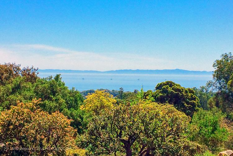 View of Santa Barbara from the hills; Breakfast Strata and Marina del Rey Morning - Hollywood-SoCal-SantaBarbara 2016; Jane Bonacci, The Heritage Cook.