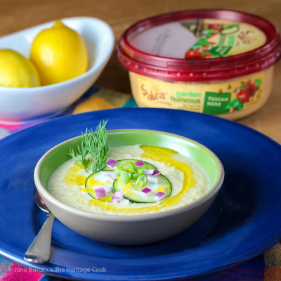 Chilled Cucumber and Hummus Soup (Gluten-Free)