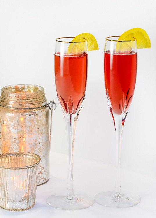 Kir Royale Champagne Cocktails; © 2016 Jane Bonacci, The Heritage Cook