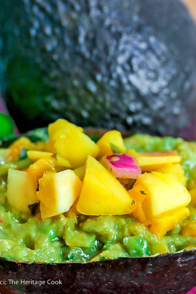 Chunky and Spicy Caribbean Guacamole (Gluten-Free) for GuacSquad12