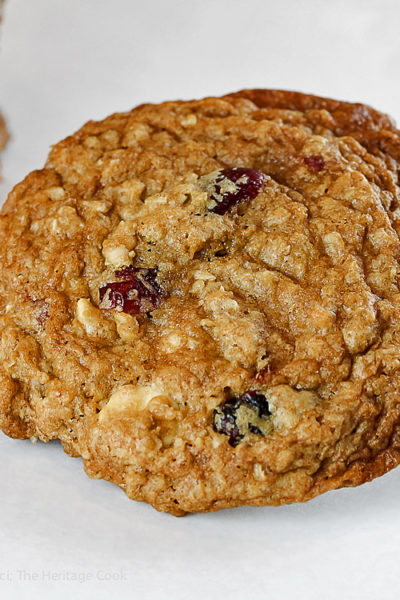 Oatmeal, Cranberry, and White Chocolate Cookies (Gluten-Free)