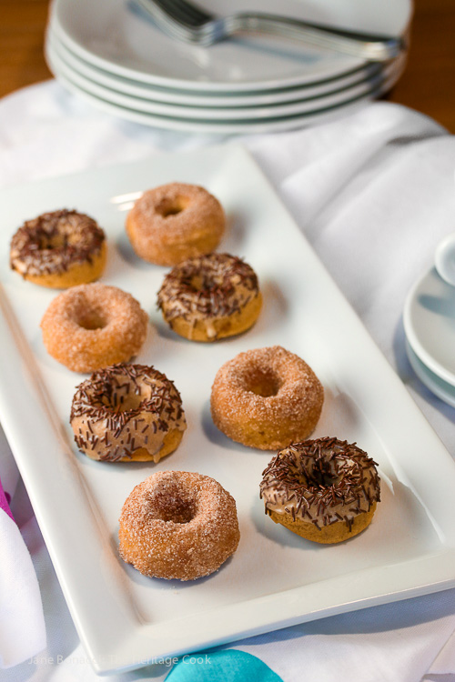 Gluten Free Mini Baked Doughnuts © 2016 Jane Bonacci, The Heritage Cook