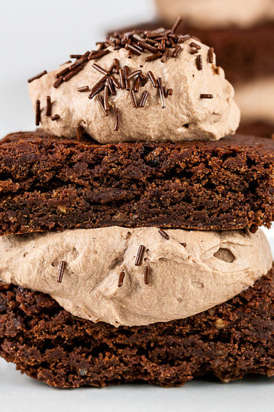 Gluten Free Brownie Sandwiches for Chocolate Monday