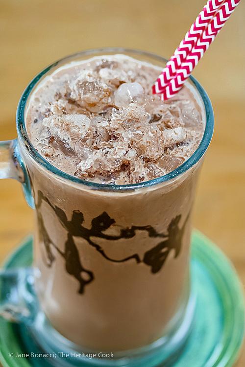 Frozen Hot Chocolate ©2019 Jane Bonacci, The Heritage Cook