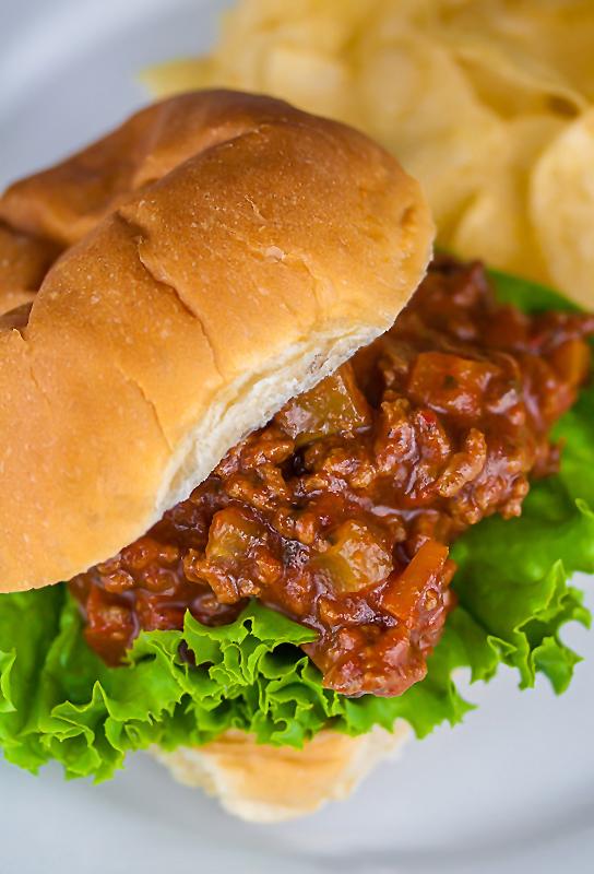 Gluten Free Mexican Flavored Sloppy Jose Sandwiches © 2016 Jane Bonacci, The Heritage Cook