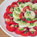 Tomato and Cucumber Summer Salad; SummerSoiree 2016 Jane Bonacci, The Heritage Cook