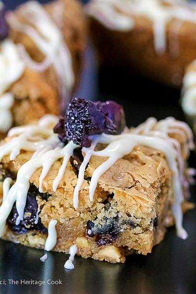Gluten Free White Chocolate Cherry Blondies