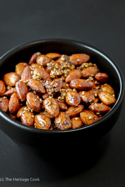 Chocolate Dukkah Roasted Almonds (Gluten Free)