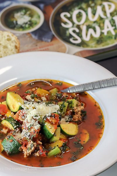 Italian Sausage-Zucchini Soup for #SoupSwapParty