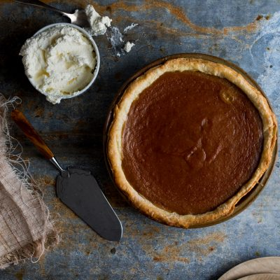 Celebrating The Art of the Pie with Kate's Pumpkin Pie!