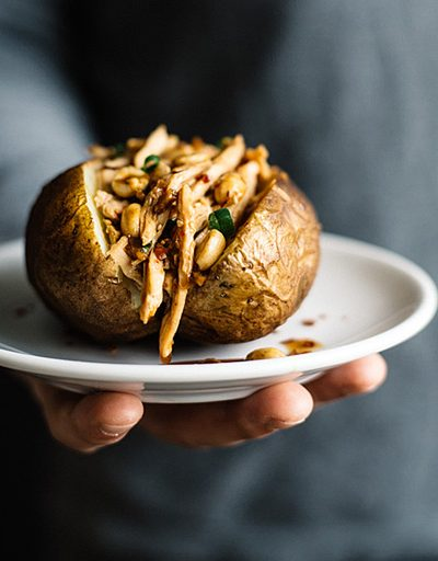 Kung Pao Chicken Stuffed Potatoes (Gluten-Free)